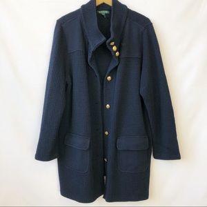 Lauren Ralph Lauren Blue Knit CardiganSize 3X